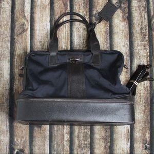 Montblanc Blue & Black Large Canvas Duffel Bag